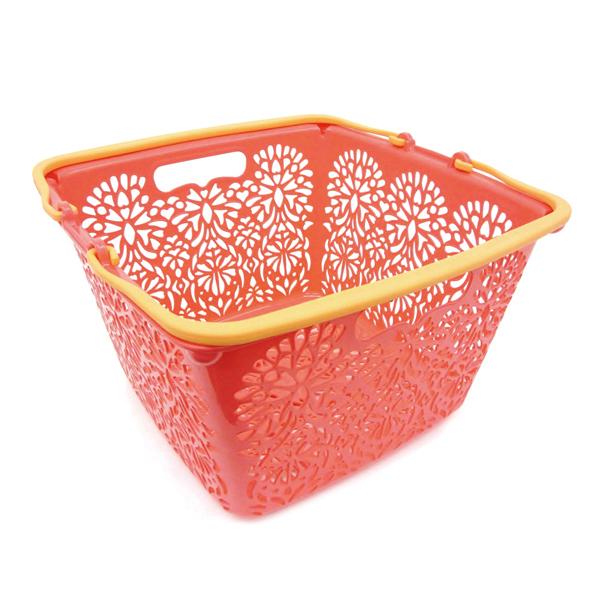 MAHALO BASKET(Li'i) 正方形籃子 粉橙色