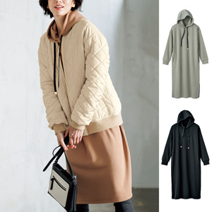 [cecile] Sweatshirt Parka Dress / New Arrival Spring Summer 2020, Ladies