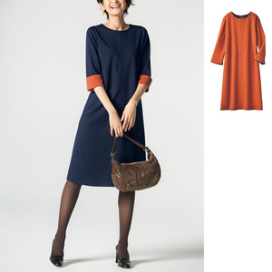 [cecile] Color Combination Sack Dress / New Arrival Spring Summer 2020, Ladies