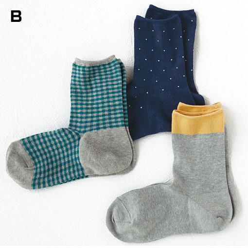 [cecile] 寬鬆延展襪子・3雙組