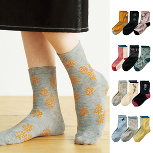 [cecile] Comfortable Socks, 3 Pairs / New Arrival Spring Summer 2020, Inner