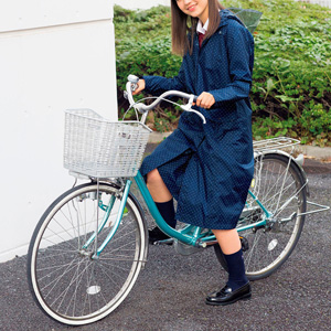 [cecile] Raincoat Bicycle-compatible (with storage bag) / New Arrival Spring 2020, Teens, cupop