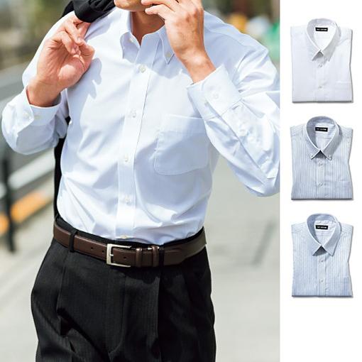形態安定不易皺襯衫 (長袖)