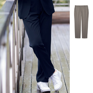 [cecile] Lightweight, Stretch, Center Press Pants / New Arrival Spring 2020, Mens, Large Sizes