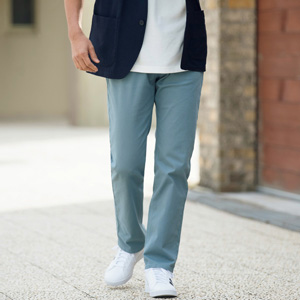 [Cecile] Stretch Twill Pants, Grayish Blue / New Arrival Spring 2020, Mens, Large Sizes