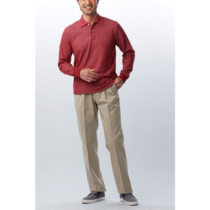 [Cecile] Stretch Chino Pants (Two-Tuck) Beige / New Arrival Spring 2020, Mens, Large Sizes