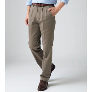 [Cecile] Stretch Chino Pants (Two-Tuck) Green-Brown / New Arrival Spring 2020, Mens, Large Sizes