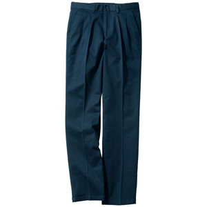 [Cecile] Stretch Chino Pants (Two-Tuck) Navy / New Arrival Spring 2020, Mens, Large Sizes