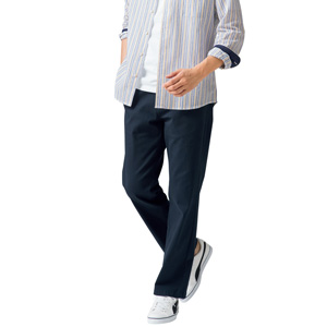 [Cecile] Stretch Chino Pants (Tuckless) Navy / New Arrival Spring 2020, Mens, Large Sizes