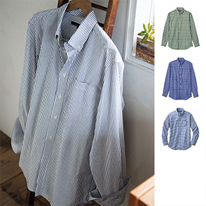 [cecile] Light Cotton Shirt (Long Sleeves) / New Arrival Spring 2020, Mens, Large Sizes