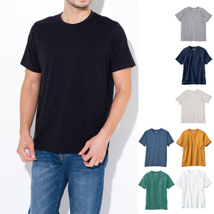 [cecile] 100% Cotton Crew Neck T-Shirt (Short Sleeves) / New Arrival Spring 2020, Mens, Large Sizes