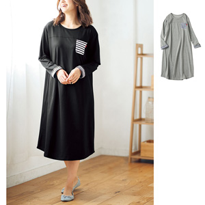 [cecile] Loose Room Dress with Mini Fleece / New Arrival Spring 2020, Large Sizes, Plump