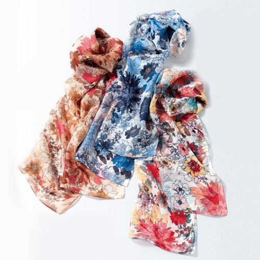 [cecile] 義大利製花卉領巾/ 2018年夏季新商品, 女裝精品