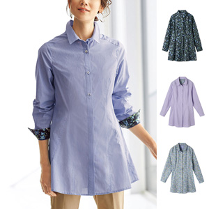 [cecile] Flare Shirt Tunic Enjoyable P{attern / New Arrival Spring 2020, Mrs