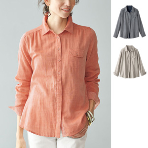 [cecile] Double Gauze Regular Shirt of Soft Cotton / New Arrival Spring 2020, Mrs