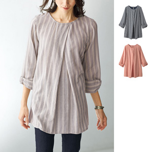 [cecile] Soft Cotton Ribbon Sleeve Tunic / New Arrival Spring 2020, Mrs