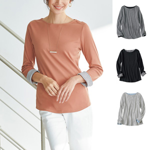 [cecile] Sleeves Color Scheme Pullover / New Arrival Spring 2020, Mrs
