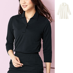 [cecile] Nontransparent Pullover With Collar (3/4-Length Sleeves) / New Arrival Spring 2020, Ladies
