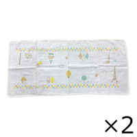 Think-B Bathing Gauze (2-Pack) Eiffel Tower Pattern [Made In Japan] [Home Goods]