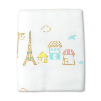 Think-B Bath Towel, Eiffel Tower Pattern [Made In Japan] [Home Goods]