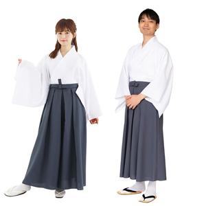 Hakama Dark Gray Color / Cosplay, Kimono, Unisex