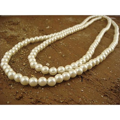 自由造型簡約珍珠項鍊(8mm)