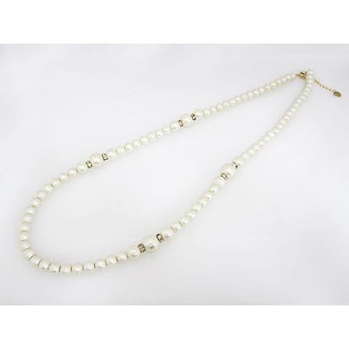 棉製珍珠長項鍊