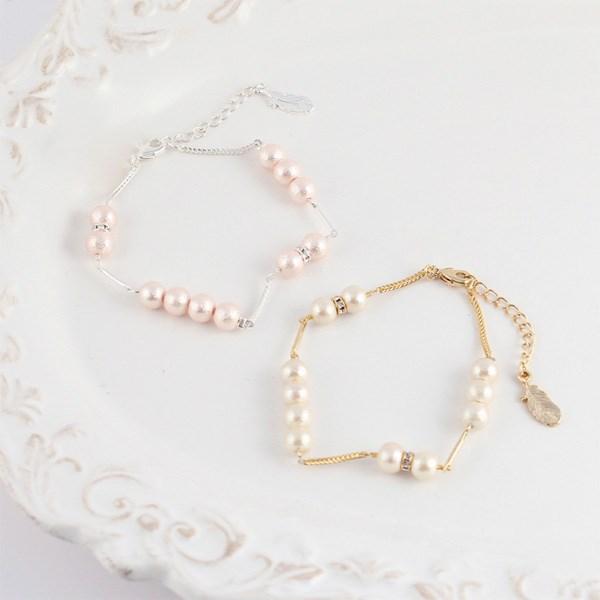 MAYGLOBE Veil 棉質珍珠 x 綴飾風手環