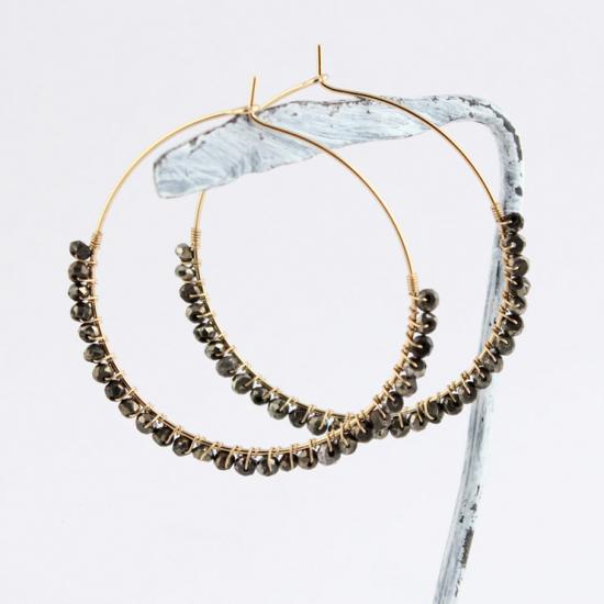Kilburn 黃鐵礦環狀耳環