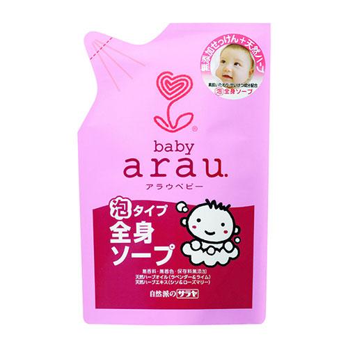 arau.baby 泡沫式全身沐浴乳 400mL 補充包