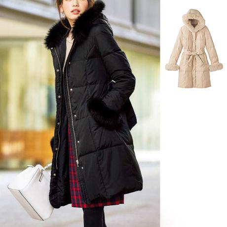 Down Coat w/Fox Fur