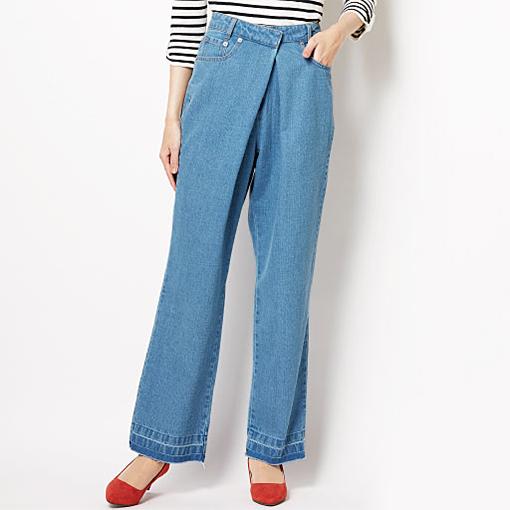 交叉設計牛仔褲