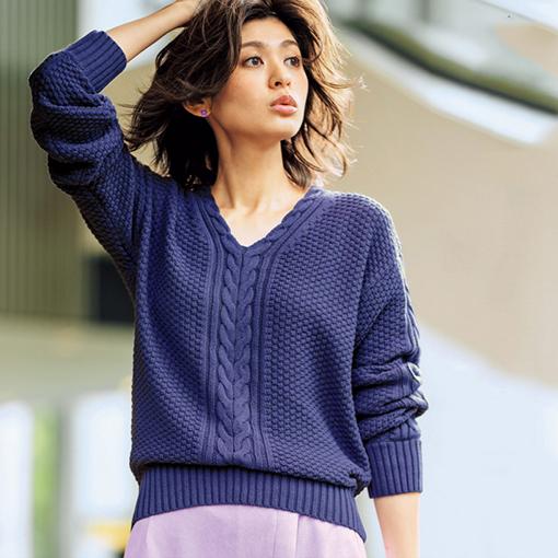 麻花編針織上衣