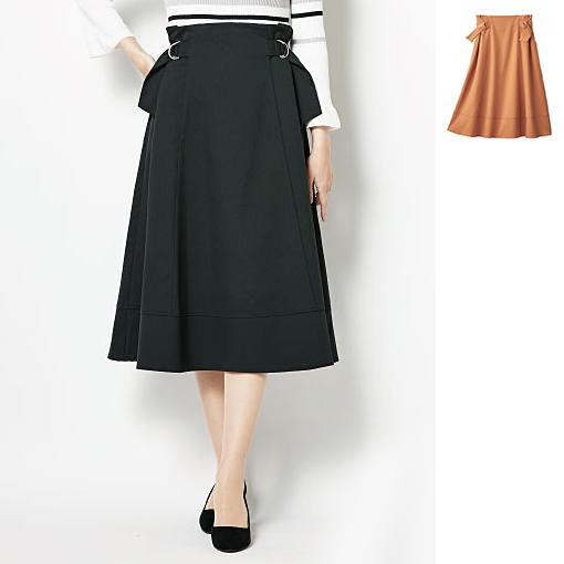 兩側D環裝飾打褶裙