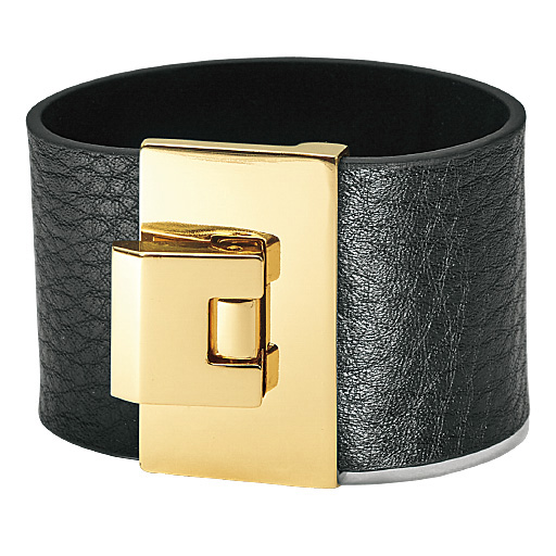 皮製金屬寬手環