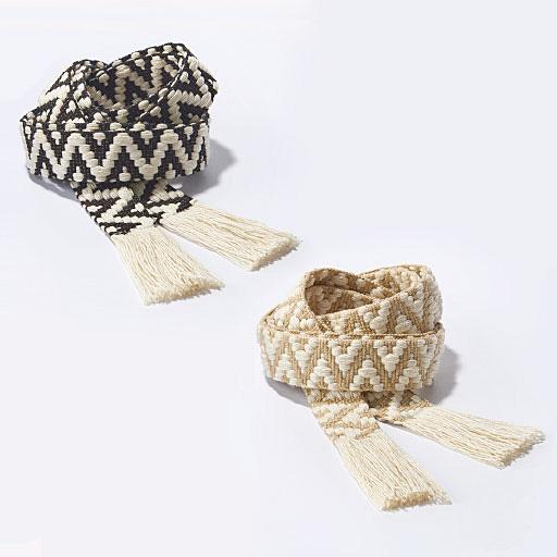 編織刺繡打結式腰帶