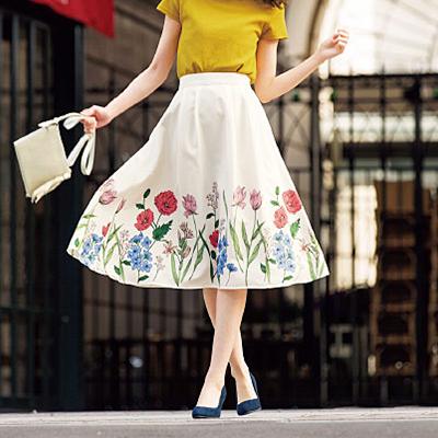 花卉植物傘襬裙