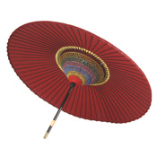 Nodate parasols (Bended edge) Red