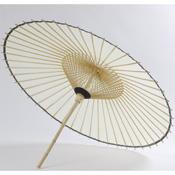 Hand-picket Bangasa umbrella 1.9 Shaku White