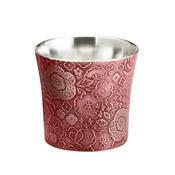 Tinware Guinomi Sake Cup, Maika (Vermillion)