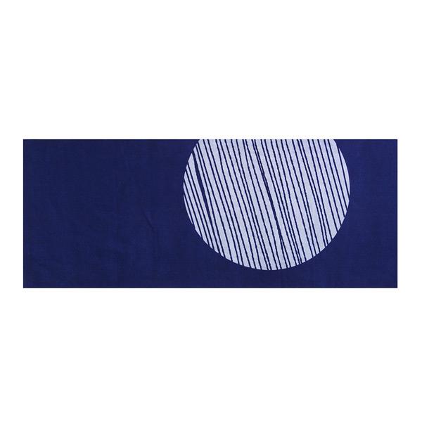 藍染布手巾 月