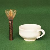 Nara Prefecture, Takayama Chasen Whisk, Black Bamboo, Long Handle Tea Whisk, Stirrer & Mug Set A