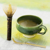 Nara Prefecture, Takayama Chasen, Black Bamboo Long-Handle Tea Whisk, Mug DE Tea Set B-2DX