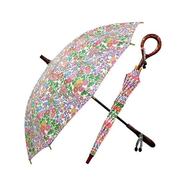 直立式雨傘(晴雨兩用) 防紫外線功能 和風秋草