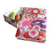Sewing Box, Miyabi, Purple Yuzen Dyeing (Extra Large)