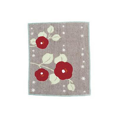 KUROCHIKU 貴重物品用拭鏡布 帶枝山茶花