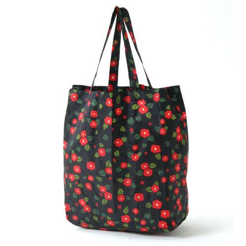 KUROCHIKU 和風圖案環保袋 小型 花筐山茶花