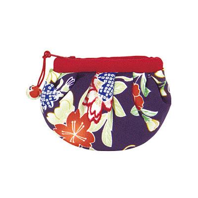 KUROCHIKU 輕柔小物[零錢包 小] 菊牡丹紫