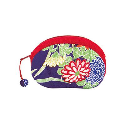 KUROCHIKU 輕柔小物[零錢包] 菊牡丹紫