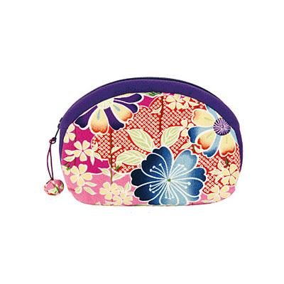 KUROCHIKU 輕柔小物[山形化妝包] 櫻桃紅